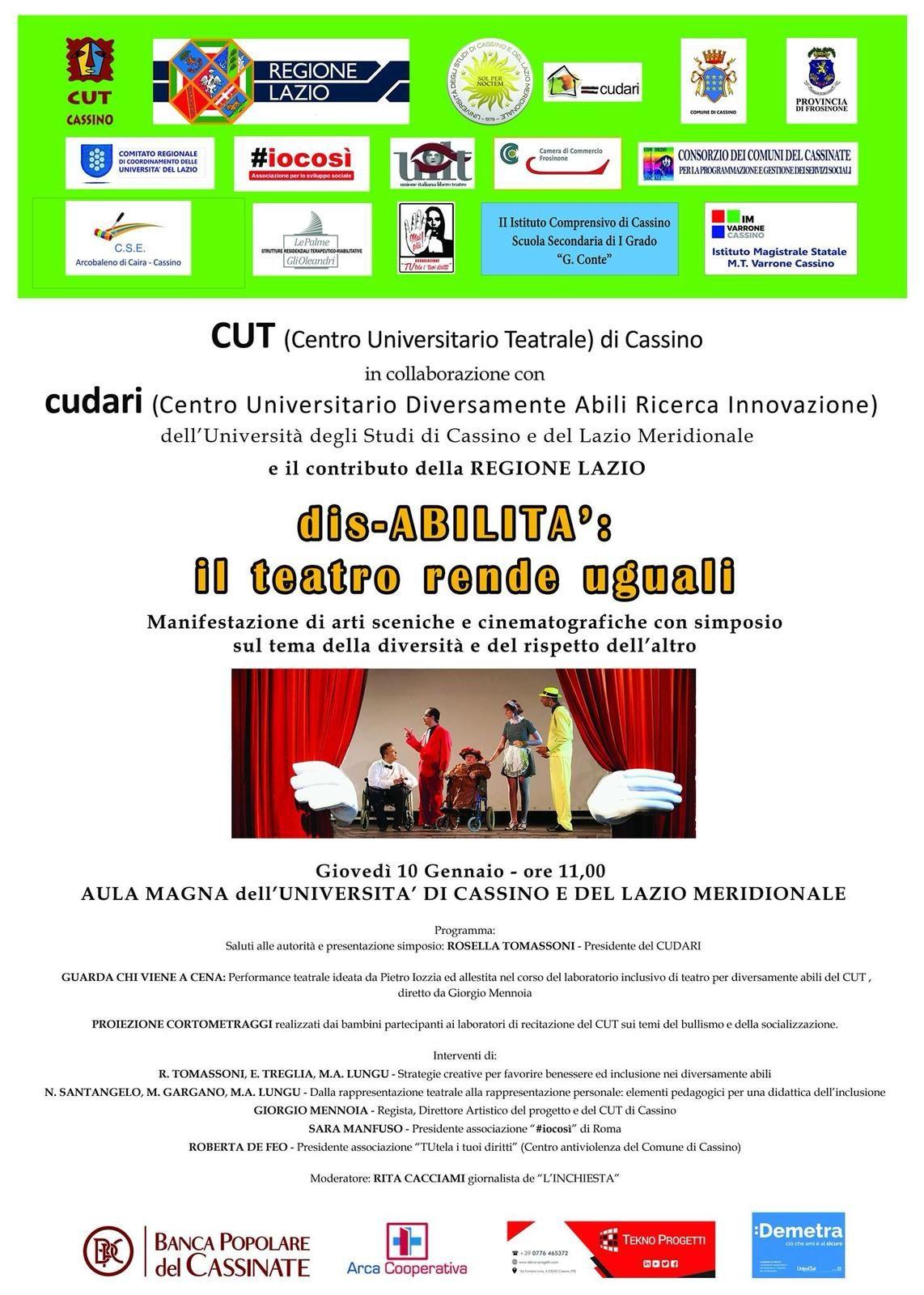 La Presidente di #IoCosì interverrà all'iniziativa dedicata al rapporto tra arte e disabilità presso l'Università del Lazio Meridionale