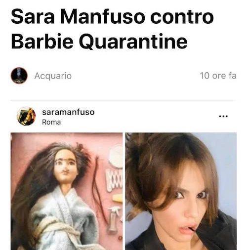 "La Presidente Sara Manfuso contro ""Barbie Quarantine"""