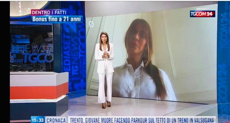 La Presidente Sara Manfuso A Dentro i Fatti su Tgcom24